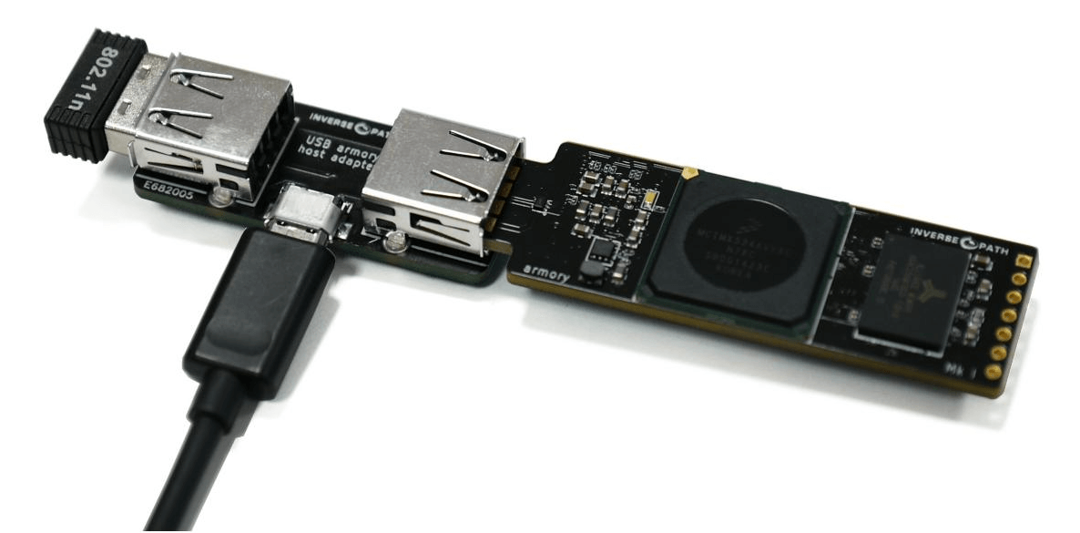 A USB armory with host adapter